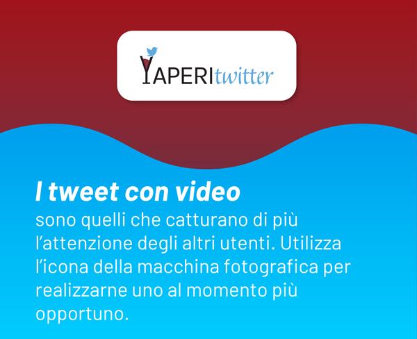 I tweet con video sono quelli che catturano di più l'attenzione degli altri utenti. Utilizza l'icona della macchina fotografica per realizzarne uno al momento più opportuno.